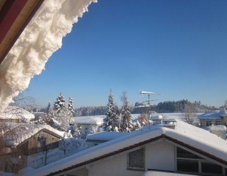 Balkonsicht Winterlandschaft
